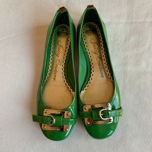 Juicy Couture Green Flats Size 6